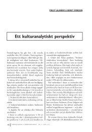 Philip Lalander & Bengt Svensson: Ett kulturanalytiskt perspektiv
