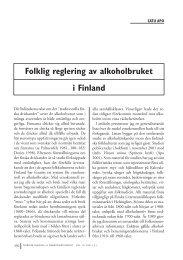 Satu Apo: Folklig reglering av alkoholbruket i Finland