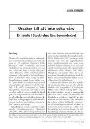 Orsaker till att inte söka vård. En studie i Stockholms läns ...