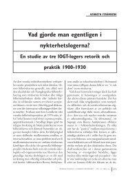 Kenneth Strömberg: Vad gjorde man egentligen i nykterhetslogerna?