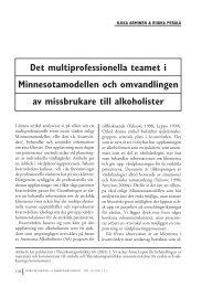 Det multiprofessionella teamet och omvandlingen av missbrukare till ...