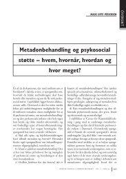 Metadonbehandling og psykosocial støtte – hvem, hvornår, hvordan ...