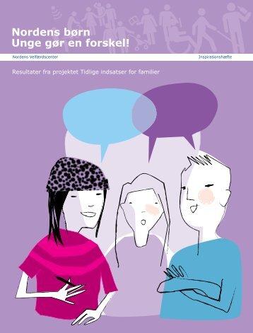 Nordens børn Unge gør en forskel! - Nordens Välfärdscenter