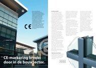 CE-markering breekt door in de bouwsector. - Sapa Group