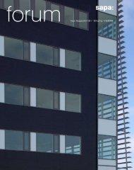 forum Sapa Byggsystem nr 1 årgång 19 2006 - Sapa Group