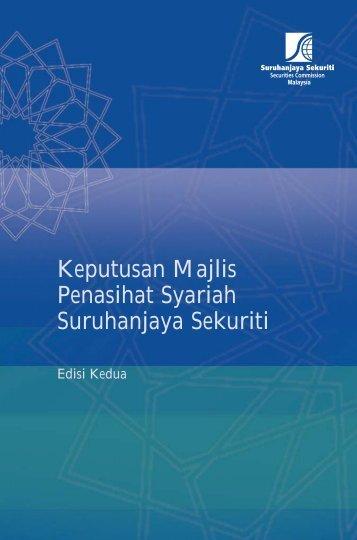 Keputusan Majlis Penasihat Syariah Suruhanjaya Sekuriti Edisi Kedua