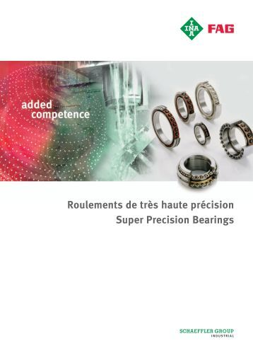 Roulements de broche FAG - Schaeffler Group