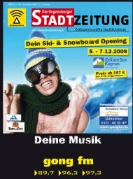 Ostbayerns größte Stadtillustrierte - Regensburger Stadtzeitung