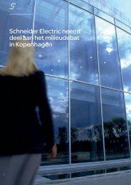 Schneider Electric neemt deel aan het milieudebat in Kopenhagen
