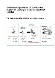 """Anschlussmöglichkeiten für """"lamelliertes Kupfer ... - Schneider Electric"""