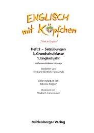 Mildenberger Verlag Heft 2 – Satzübungen 3 ... - School-Scout