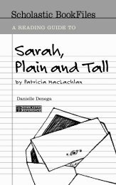 Sample Pages From Sarah Plain And Tall