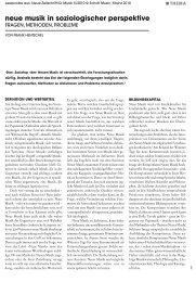 Leseprobe Neue Zeitschrift für Musik 2010/05 - Schott Music