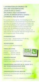 Kongressprogramm, 5.9.2011, Kita- und Schulverpflegung - DNSV - Page 2