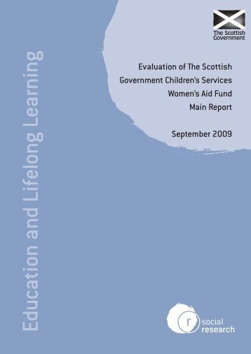 Evaluation of the Scottish Government Children's Services Women's ...