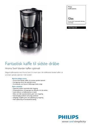 HD7566/20 Philips Kaffemaskine - Tretti.se