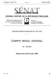 lundi 21 juin 1993 - Sénat