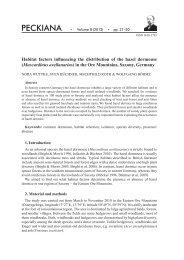 Habitat factors influencing the distribution of the hazel dormouse ...