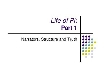 Life of Pi Narrators [Compatibility Mode]. - Rockwood School District