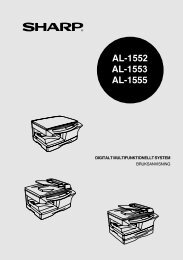 AL-1552/1553/1555 Operation-Manual SE - Sharp