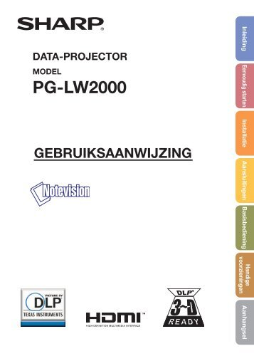 PG-LW2000 Operation-Manual NL - Sharp