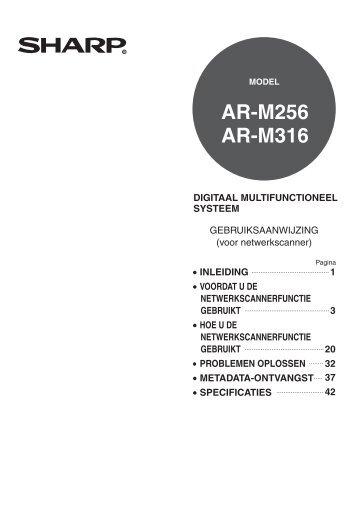 AR-M256/M316 Operation-Manual Network-Scanner NL - Sharp