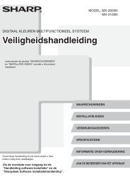 MX-2600N/3100N Operation-Manual Safety-Guide NL - Sharp