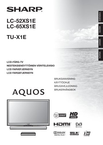 LC-52/65XS1E/TU-X1E Operation-Manual DK - Sharp