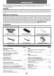 XL-HF151PH(S)/(BK) Operation-Manual NL - Sharp