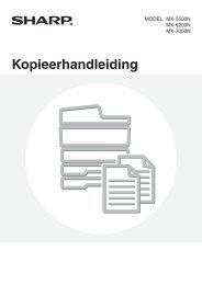MX-5500N/6200N/7000N Operation-Manual Copier NL - Sharp