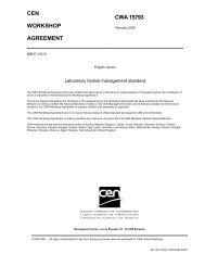CWA15793:2008 International Biorisk Management Standard