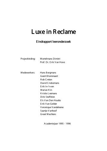 Luxe in Reclame - CELLO