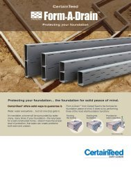 Form-A-Drain Protecting Your Foundation - CertainTeed