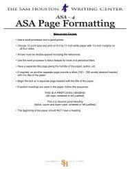 Manuscript Format • Use a word processor and a good printer ...