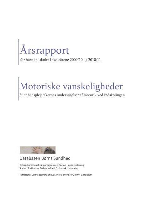 Årsrapport - Statens Institut for Folkesundhed