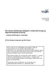 Deltagelse i medicinske forsøg og lægevidenskabelig forskning
