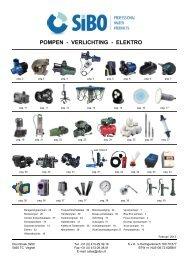 pompen - verlichting - elektro 2013 - SIBO