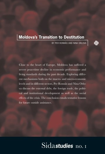 Moldova's Transition to Destitution - Sida