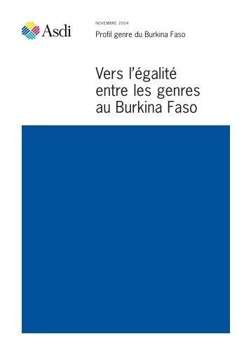 Vers l'égalité entre les genres au Burkina Faso - Sida