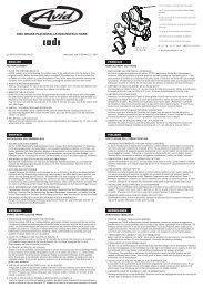 DISC BRAKE PAD INSTALLATION INSTRUCTIONS - SRAM.com