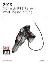 Monarch RT3 Relay Wartungsanleitung - SRAM.com
