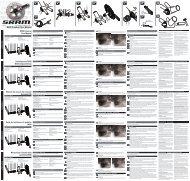 BB30 Crankset User Manual - Sram