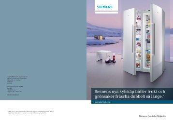 Siemens nya kylskåp håller frukt och grönsaker fräscha dubbelt så ...