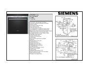 Inox Four à encastrer Fr. 4'560.- Fr. 4'237.90 - Siemens Home ...