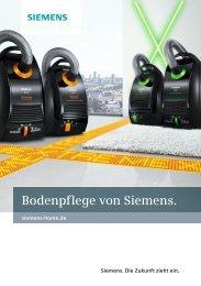 Bodenpflege von Siemens.