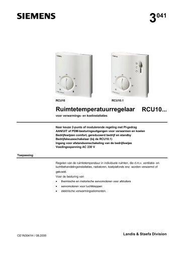 3041 Ruimtetemperatuurregelaar RCU10... - Siemens