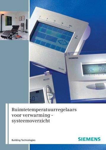 Ruimtetemperatuurregelaars voor verwarming ... - Siemens