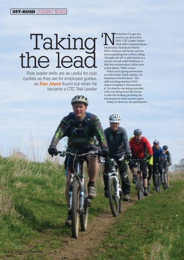 Ride leader skills are as useful for club cyclists as they are for ... - CTC