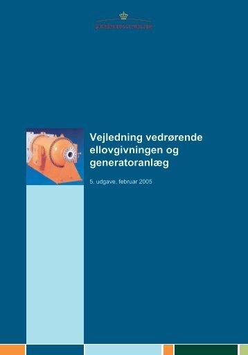 Ellovgivning og generatoranlæg - Sikkerhedsstyrelsen
