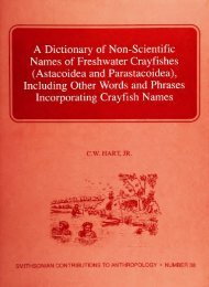A Dictionary of Non-Scientific Names of Freshwater Crayfishes ...
